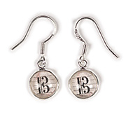 Alto clef drop earrings - parchment