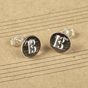 Viola Earrings - alto clef studs