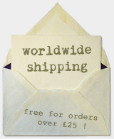 Worldwide Shipping - free on orders over £25